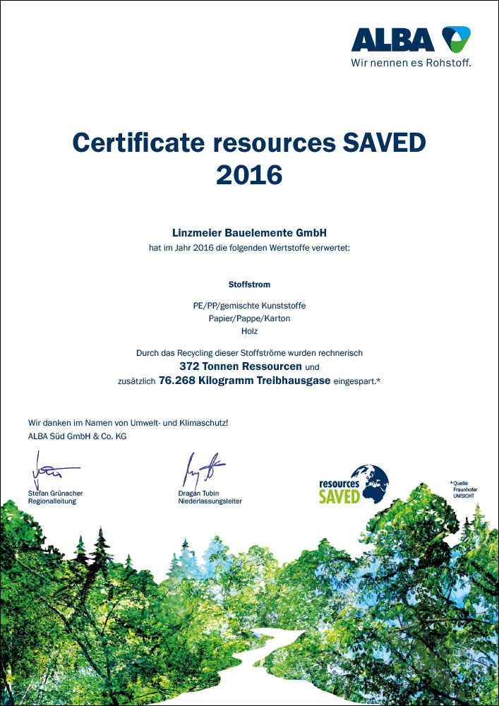 Certificate resources saved 2016