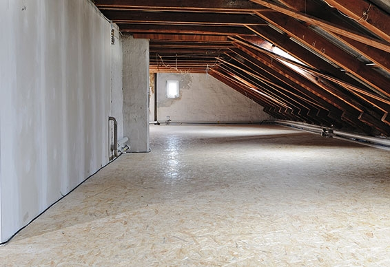 Attic elements for dry installation without thermal bridges