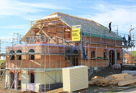 Roof insulation over the rafters with LINITHERM PAL Polymer
