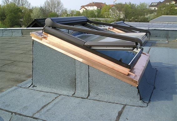 LITEC DAR roof window kerb flashing for flat roofs - Kerb flashing for roof windows in flat roofs